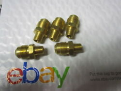5 Pieces 1/8 Npt X 3/8 Sae Male Flare Brass Fittings Oil Air Gas Pipe Thread