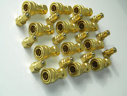 Carpet Cleaning 1/4 Brass Truckmount Quick Disconnect For Wands Hoses