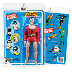 Official Dc Comics Plastic Man 8 Inch Action Figure With Retro Style Retro Card