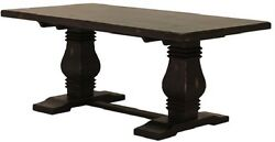90 L X 39 X 30 Dining Table Antique Black Finish Hand Made 910004-dni