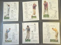 1939 Player Golf Golfing And How To Play Strokes Set 25 Cards Tobacco Cigarette