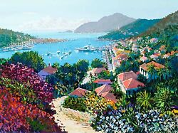 Kerry Hallam - St. Bart's hand-signed serigraph