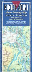 Pacific Coast Route Planning Map, North Portion, Fort Bragg To Seattle/vancouver