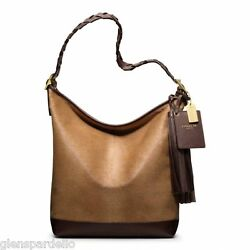 NWT COACH LEGACY PINNACLE CAMEL HAIRCALF LARGE DUFFLE SHOULDER BAG PURSE 19907