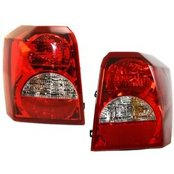 Set Of 2 Tail Light For 2008-2010 Dodge Caliber Se Lh And Rh W/ Bulbs
