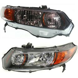 Headlight Set For 2006 2007 2008 2009 Honda Civic Coupe Left And Right 2pc