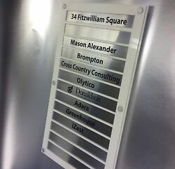Modern Office Building Entrance Directory Sign 4-12 Position Empty Frame