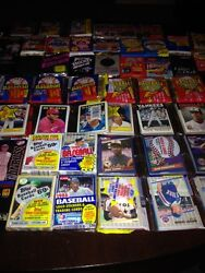 Awesome Lot 700 Unopened Old Vintage Baseball Cards In Wax Cello Rack Packs
