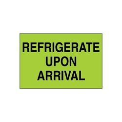 Tape Logic Climate Labels  Refrigerate Upon Arrival 2x3 Green 500 Per Roll