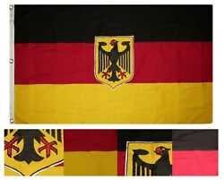 3x5 Embroidered Sewn German Eagle Germany Deutschland 100 Cotton Flag 3and039x5and039