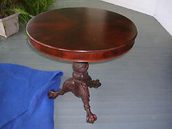 Fabulous Antique Thomas Day Mahogany Tilt Top Table, Great Acanthus Carving