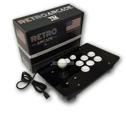 Arcade Console With Joystick With 6 Buttons In An Acrylic Case Usb Jamma + Mame