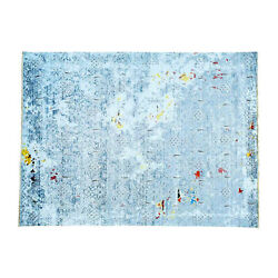 8and0399x11and03910 Hand-knotted Modern Broken Design Wool And Silk Oriental Rug R32176