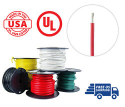 14 Awg Marine Wire Spool Tinned Copper Primary Boat Cable 50 Ft. Red Made In Usa