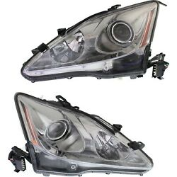 Headlight Set For 2006 2007 2008 Lexus Is250 Left And Right Hid 2pc