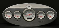 1934 Plymouth 5 Gauge Dash Panel Insert Polished Programmable White