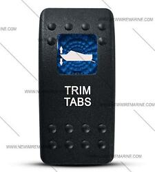 Labeled Contura Ii Rocker Switch Cover Only, Trim Tabs Blue Lens