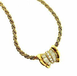 .74 ct Diamond Pendant Necklace 17 inches in 18k Yellow Gold - HM1619SA