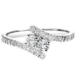 14k White Gold Twogether Diamond Ring - Six Diamond Weights To Choose From