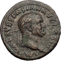 Vespasian 71ad Big Ancient Roman Coin Aequitas Cult Fair Trade Equality I57373