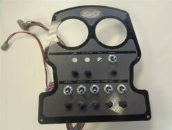 Scout Switch And Breaker Dash Panel Black / Gray / Gold 12 1/4 X 10 1/4 Boat