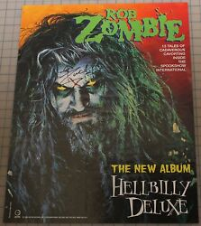 Rob Zombie Signed Autographed Poster Hellbilly Deluxe 1998