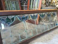1910 Arts And Crafts Tulips Stained Glass Window Transom