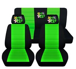 Flower Power Seat Covers Fit 2011-2014 Volkswagen Beetle 12 Color Options