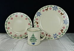 26-pcs Or Less Of Pfaltzgraff Nordic Christmas Stoneware/china - Reindeer
