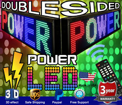 Mixed Color Double-sided Led Sign 19 X 52 Programmable Scrolling Message Board