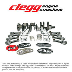 Chevy 454-489 Scat Stroker Kit 1pc Rs Forgedflatpist. H-beam 6.385 Rods