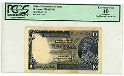 India … P-16b … 10 Rupees … Nd1935 … Xf Pcgs 40.