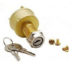 Standard 3 Inboard 3 Position 3 Terminal Universal Brass Boat Ignition Switch