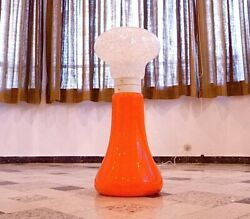 Large Vintage Italian Modern Glass Floor And Table Lamp Space Age Lampe | 1960s