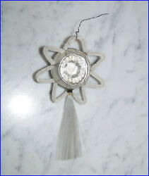 Indent Star Comet - Wire Wrapped Christmas Ornament Spun Glass Tail 6538