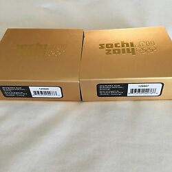 Two 1/4 Oz. Pure Gold Coins - Curling And Bobsleigh Sochi 2014 Winter Olympics