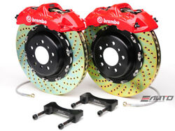 Brembo Front GT BBK Brake 6pot Red 405x34 Drill Rotor LX570 Land Crusier 08-15