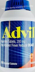 Advil Ibuprofen Tablets 200mg Pain Reliever Fever Reducer Nsaid 360 720 Or 1440
