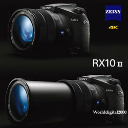 Sony Dsc-rx10 Iii Rx10m3 4k Recording F2.4 24-600mm , 13 Languages Selectable