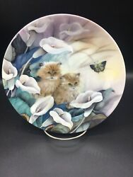 Petal Pals - Alluring Lillies W. L. George 8 Inch Collector Plate