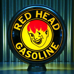 Red Head Gasoline Early - 15 Gas Pump Globe Lenses - Made By Pogoand039s Garage