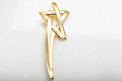 Signed 5850 And Co Shooting Star 18k Yellow Gold Brooch Pin 4 35g Rare