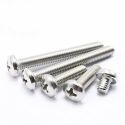 M2.5 Stainless Steel Phillips Pan Head Machine Screws Length 4 To 20mm Qty 100