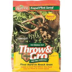 3 Pk 5 Throw And Gro No-till Forage Seed Plot Buck Deer Attractant 70505
