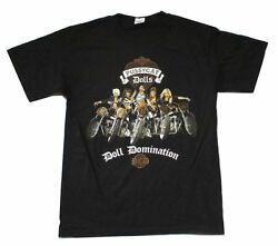 Pussycat Dolls Doll Domination 2009 Tour Black T Shirt New Official PCD