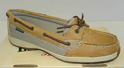 Eastland Sunrise Women's Tan Leather Boat Shoe  3562  NEW  Sz 5.5-11  Med