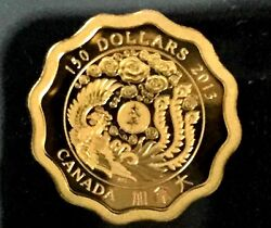 99.999 Pure Gold Coin - Blessings Of Peace - Mintage 888 2013
