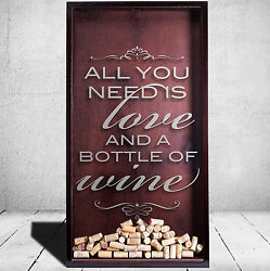 Large Etched Shadow Boxes And Wine Cork Holders For Gifts And Home Decor Wine Quote