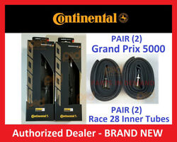 Pair 2 Continental Grand Prix 5000 Tires 700 X 23 25 28 32 Inner Tubes 42 60 80