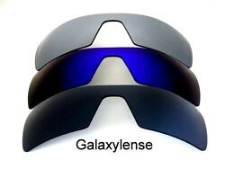 Galaxy Replacement Lenses For Oakley Oil Rig Black&Blue&Grey Polarized 3Pairs